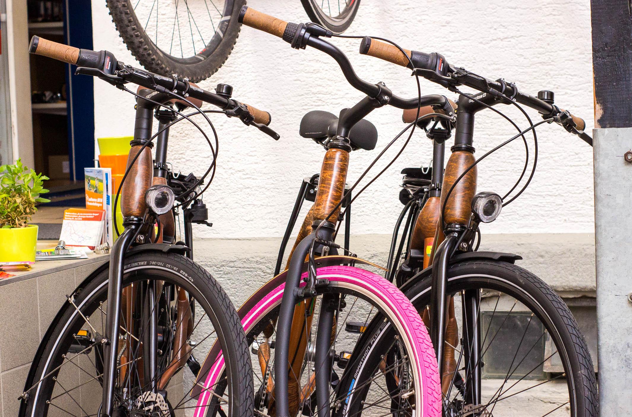handgefertigte Bambusräder von bike & fun Radshop in Schwertzingen