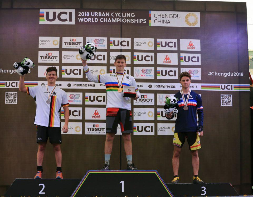 Felix Keitel in Chengdu wurde Vizeweltmeister im Fahrrad Trial in China