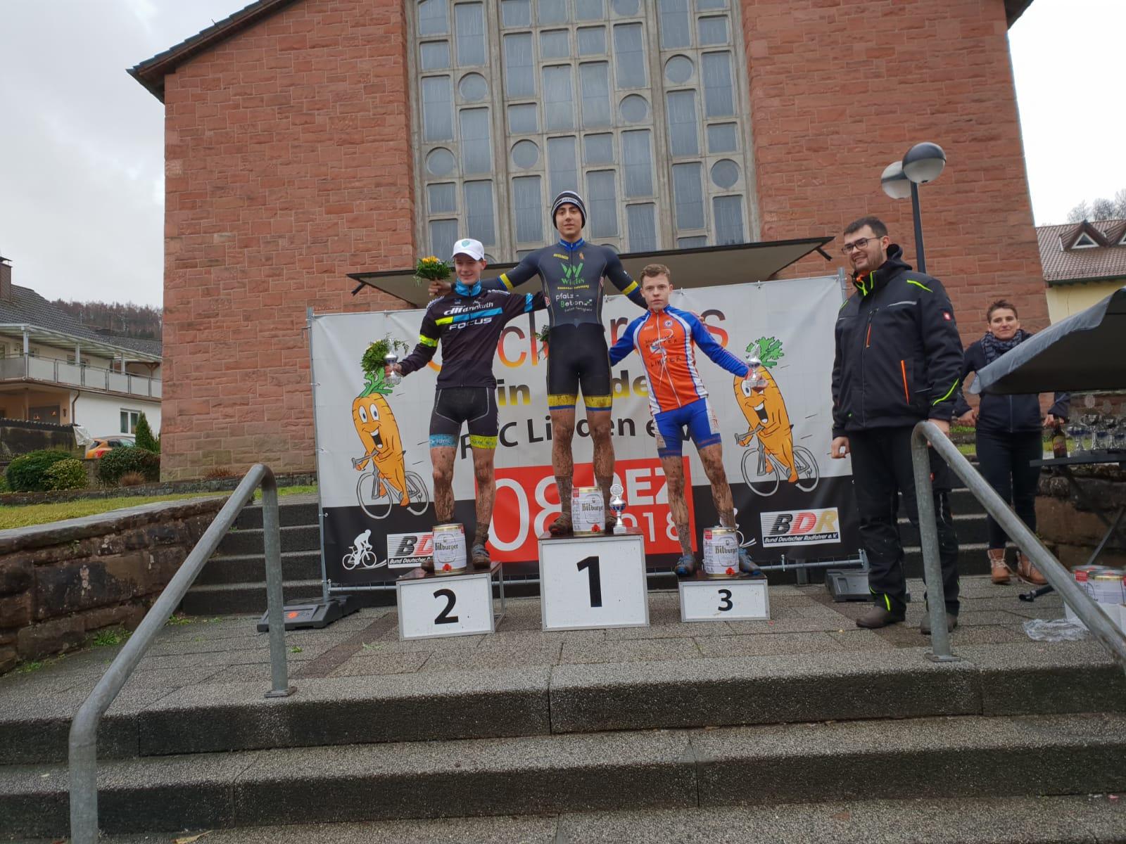 Lennart Krayer erreicht den dritten Platz beim Querfeldein in Linden bei Kaiserslautern