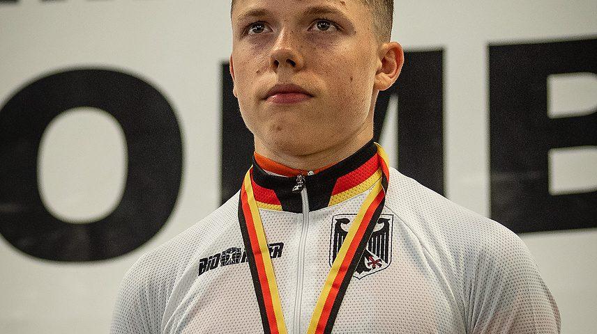 Lennart Krayer wird Deutscher Meister im Mountainbike der Junioren